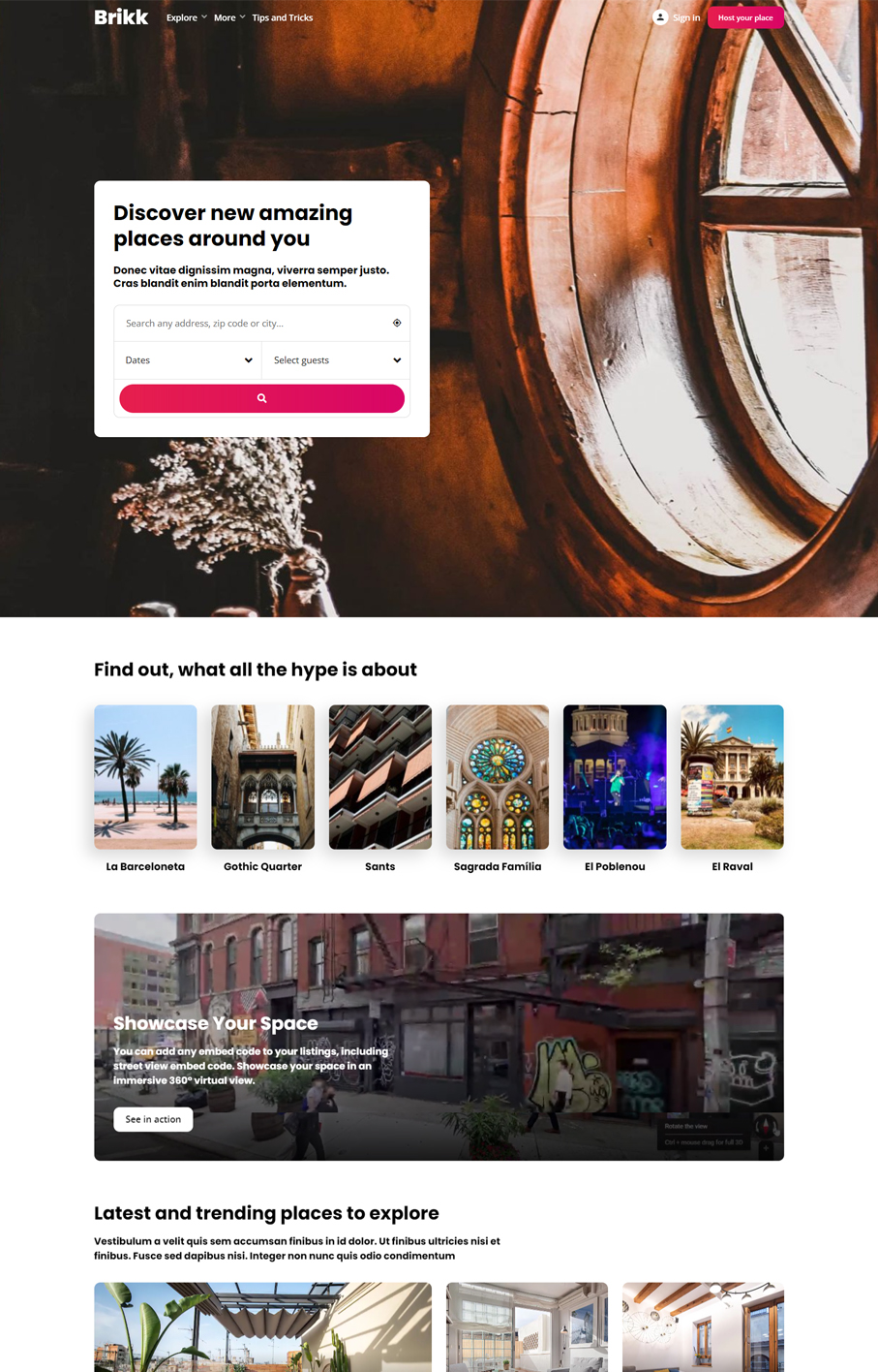 Brikk WordPress Theme - Demo Booking