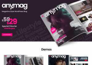 Anymag — Magazing and best blogging WordPress theme