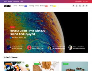 Disto — Color Rich WordPress Blogging Theme