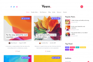 Veen — Minimal WordPress Personal Theme