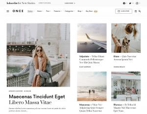 Once — Best WordPress Theme Blog & New Stories
