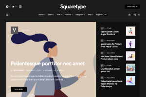 Squaretype — A Content-Based WordPress Theme Best for Blogs and Magazine