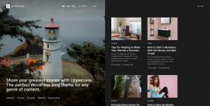 Uppercase — Best Personal Blog Themes with Dark Mode