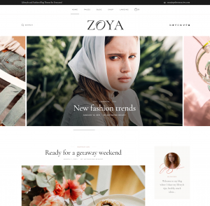 Zoya — Best Lifestyle and Personal Blogs Theme for WordPress